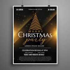 Flyer Samples For An Event New Dark Christmas Celebration Card Invitation Flyer Template Design