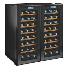 wine enthusiast silent  bottle touchscreen double door dual zone