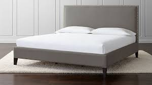 Cole California King Upholstered Bed + Reviews | Crate and Barrel