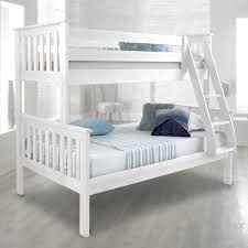 full size mattress two people. Atlantis White Finish Solid Pine Wooden Triple Sleeper Bunk Bed Full Size Mattress Two People