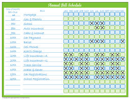 Bill Calendar Template Interesting 48 Days Of Home Management Binder Printables Day 48 Monthly Bill