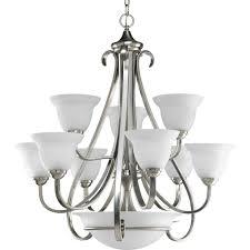 progress lighting glass parts. progress lighting p4418-77 9-light two-tier torino chandelier, forged bronze - amazon.com glass parts