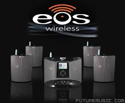 wireless home sound system. eos states that its system is the worldâ\u20ac™s first digital wireless \u201cwhole home audio\u201d speaker system, or a sonos for your ipod. contains an ipod sound