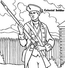 Military Colonial Soldier Coloring Pages Color Luna