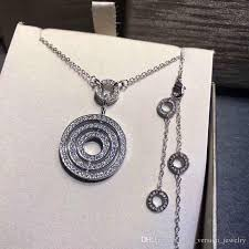 whole astrale pendant necklaces italy brand three circle design women party diamond necklace luxury valentine s day jewelry original buckle