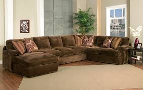 large sectional sofas with chaise dark brown colored sofa with chaises five pillows softly elegant design