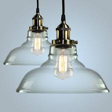 seeded glass pendant shade replacement large light colored lights blown lighting for kitchen kichler clear brass