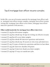 Loan Officer Resume Objective Examples Job And Resume Template