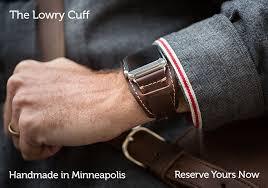 key stitch and leather apple watch strap lowrycuff