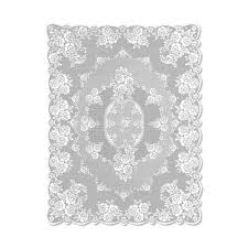 heritage lace victorian rose rectangle white polyester ta