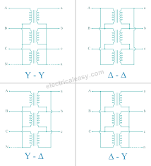 Three Phase Transformer Connections Electricaleasy Com