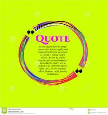 Commas Message Blank Template Stock Vector Illustration