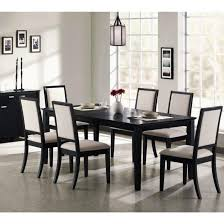 dark wood dining room table and chairs dining room 50 modern black dining room table set