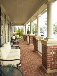 Brick And Cement Pillars Materials For Beautiful Front Terrace (Image 3 of  20)