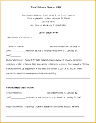 Editable Doctors Note Template Doctor Excuse Letter For Work J Dornan Us