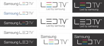 samsung led tv logo. samsung led tv™ logo vector led tv