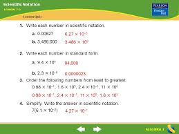 1 billion in standard form lesson 7 2 warm up ppt download
