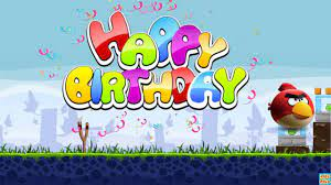 Angry Birds style Happy Birthday Song - YouTube