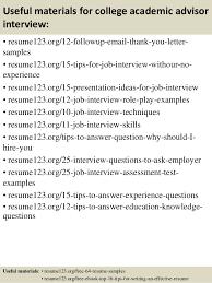 resume for academic advisor cover letter best cover letter for sample academic resume
