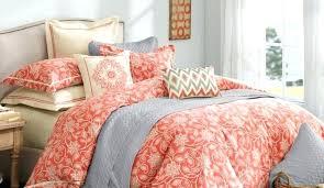 orange and grey bedding bedspread plaid comforter quilt