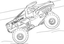 El Toro Loco Monster Truck Coloring Page Free Printable Coloring Pages