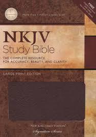 nkjv study large print edition burdy bonded leather 9781418542627 book com