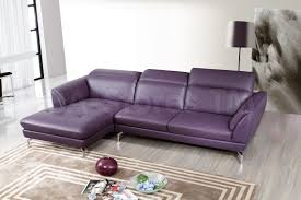 Orchard Sectional Sofa | Purple Leather