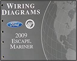 2009 ford escape mercury mariner wiring diagram manual original flip to back flip to front