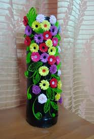 Paper Quilling Flower Baskets How To Make Flower Vase With Paper Quilling Flowers Healthy