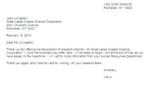 Offer Acceptance Email Sample Job Thank You Response Letter For Interview Invitation Offer