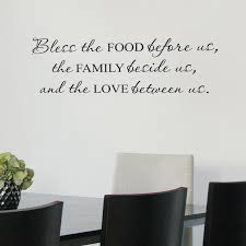 Belvedere Designs LLC Bless Food Family Love Wall Quotes™ Decal Magnificent Love Wall Quotes