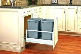 full size of double wooden trash bin for kitchen plans wheeled can bins under counter garbage