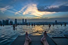 infinity pool singapore. At Night Infinity Pool Singapore