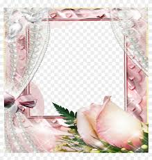 create photo frames beautiful flowers source pink roses and pearls background 805582