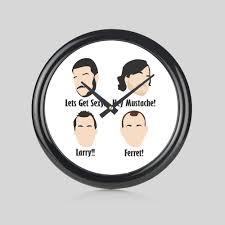 Hey Mustache Ferret Round Wall Clock Bedroom Home New