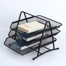 1pcs office 3 tier doent file paper tray desktop organizer sorter metal mesh in home office storage from home garden on aliexpress com alibaba group