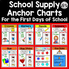 School Supply Anchor Charts