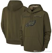 Performance Olive Salute Sweatshirt Service Sideline Eagles Hoodie Pullover 2018 Therma Men Philadelphia To