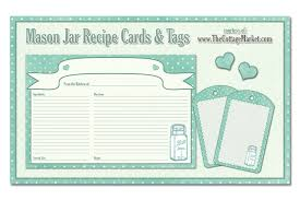 recipe template free free printable mason jar recipe cards and tags awesome in aqua the