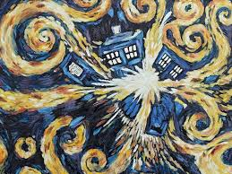 tardis van gogh wallpaper