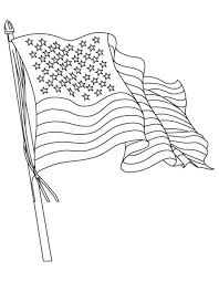 Flags Coloring American Flag Coloring Page