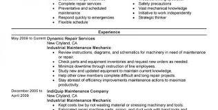 Maintenance Supervisor Job Description For Resume Maintenance
