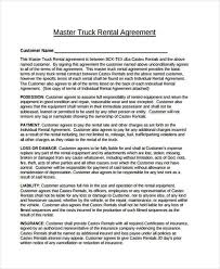 Commercial Truck Lease Agreement Awesome Sample Truck Lease Agreements 48 Free Documents In Word PDF