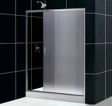 dreamline infinity frosted glass shower door w base for