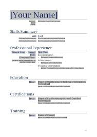 Forms For Resumes