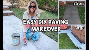 diy painting our concrete paving slabs