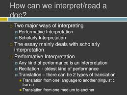 interpretation by jerome mcgann part  interpretation by jerome mcgann part 2