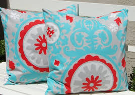 red and teal pillows.  Red Decorative Throw Pillow Covers Suzani By FestiveHomeDecor On Etsy 3400  Bedroom Turquoise Red To And Teal Pillows W