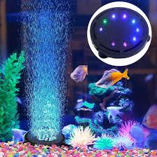 Jacksuper Aquarium Bubble Light Submersible Fish Tank Air Stone Led Light Air Pump Bubble Stone Lamp For Turtle Tank Decoration