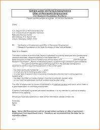 Employment Verification Letter Sample Letterhead Template Sample